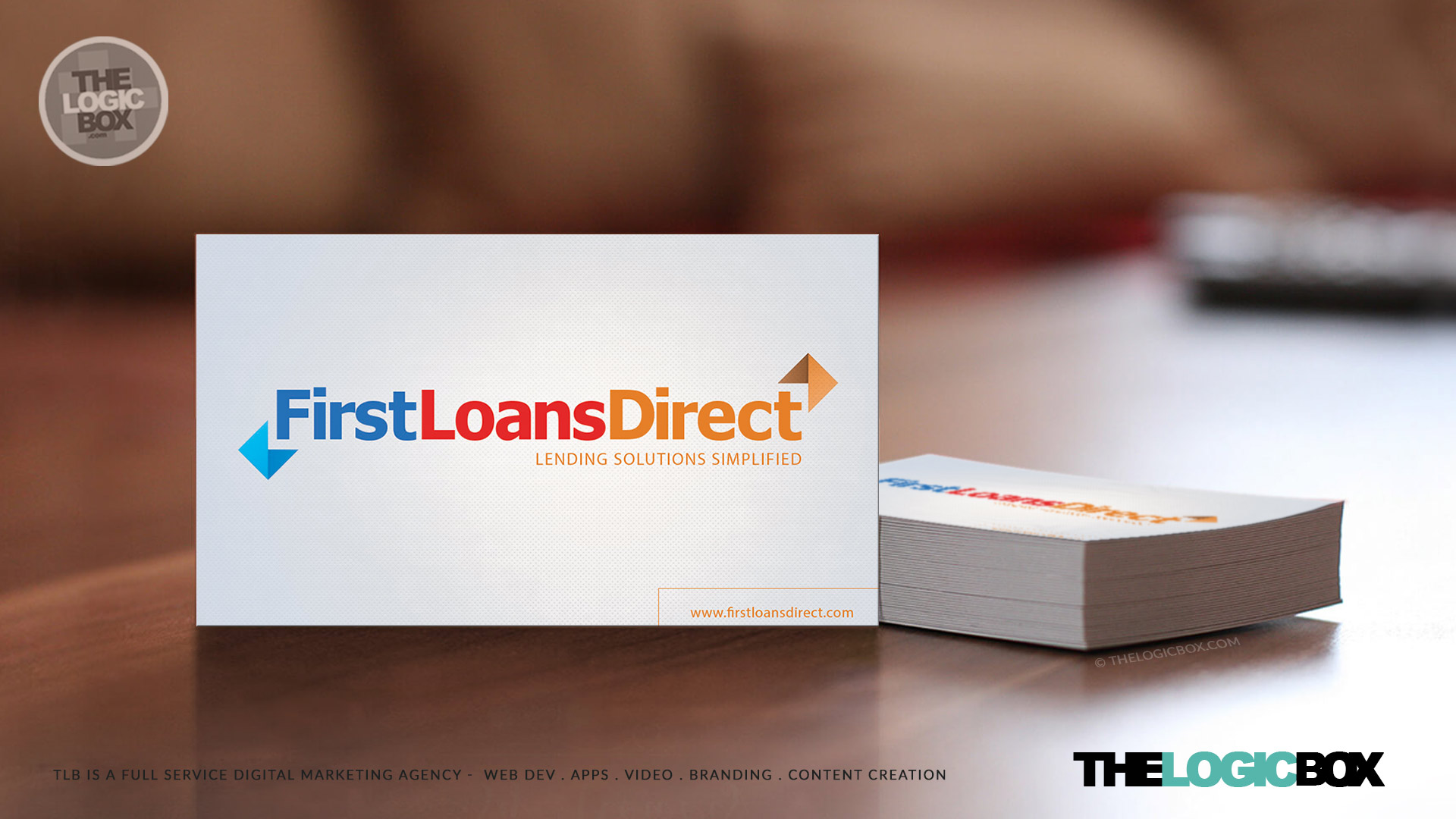 Logo business card design firstloansdirect logo personal loan services web design mississauga oakville burlington reheart