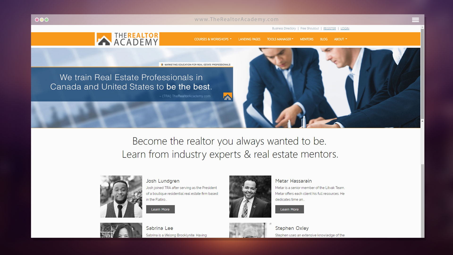The Realtor Academy - Resource / Directory / Education  CMS / CRM for Real Estate Professionals - Powered by Web Development Company The Logic Box